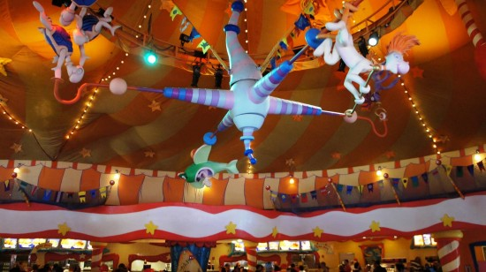 Inside Circus McGurkus at Islands of Adventure.