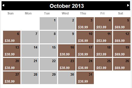 HHN 2013 Stay & Scream discount ticket calendar