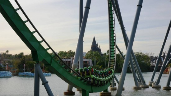 The Incredible Hulk Coaster at Islands of Adventure.