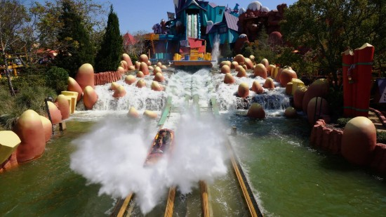 Dudley Do-Rights Ripsaw Falls at Islands of Adventure.