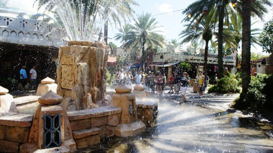 The Mystic Fountain at Islands of Adventure.