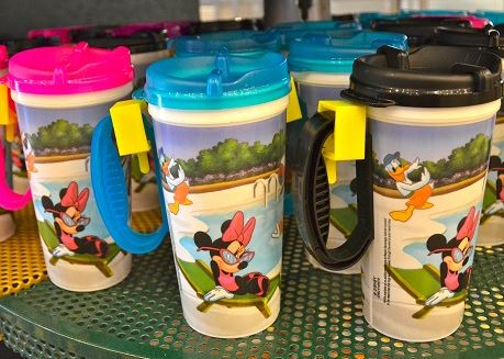 Rapid Fill souvenir mugs at Walt Disney World.