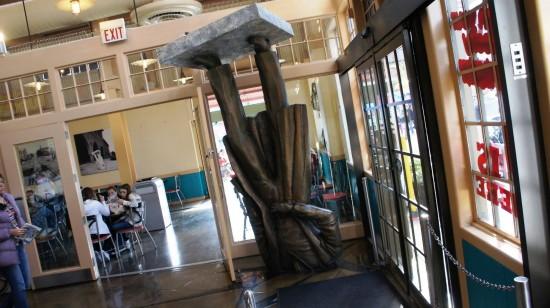 Louis Agassiz Statue at Richter's Burger Co.