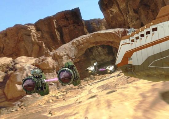 Star Tours destination: Tatooine.