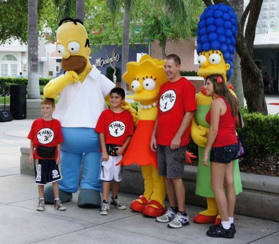The Simpsons at Universal Studios Florida.
