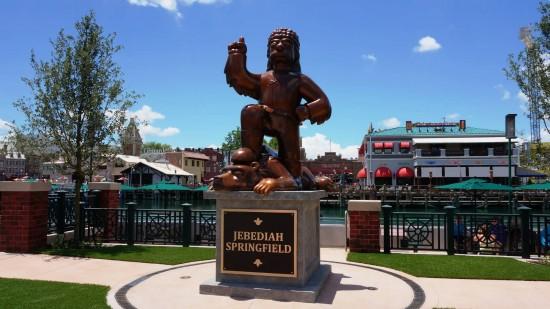 Jebediah Springfield statue at Universal Studios Florida.