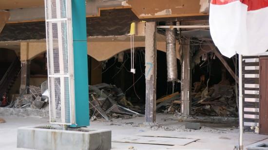 Latin Quarter demolition - August 9, 2013.