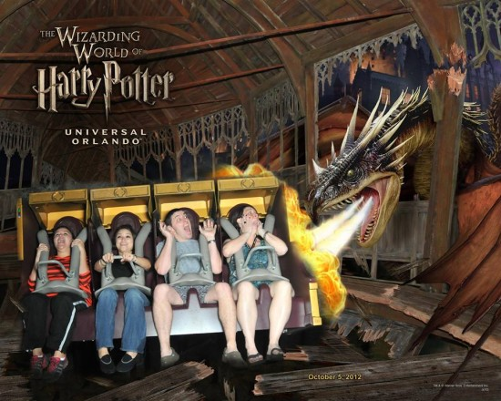 Souvenir ride photo from Harry Potter and the Forbidden Journey.