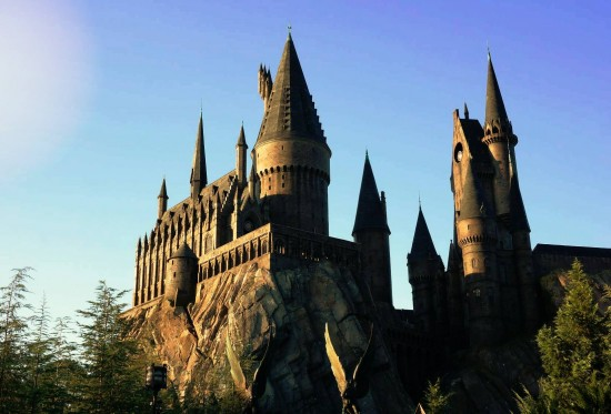 Hogwarts Castle in the morning at Islands of Adventure.