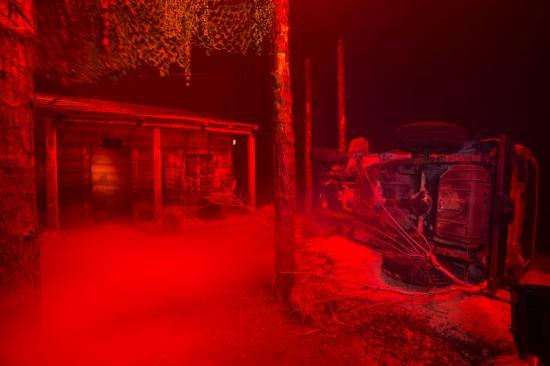 Inside HHN 2013's Evil Dead haunted house.