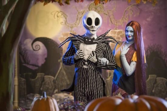 "Jack Skellington and Sally from Tim Burton's ""The Nightmare Before Christmas""."