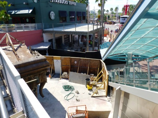 Universal CityWalk construction - October 2013.