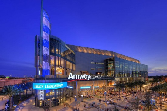 Amway Center in downtown Orlando.