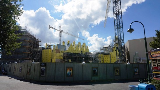 Diagon Alley construction - October 18, 2013.