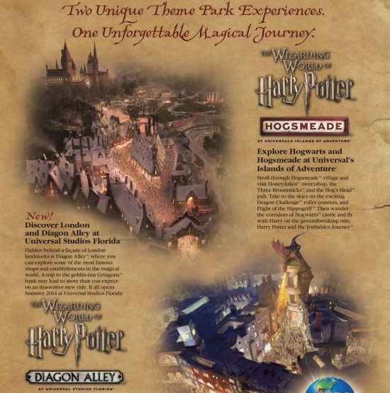 Wizarding World of Harry Potter artwork.
