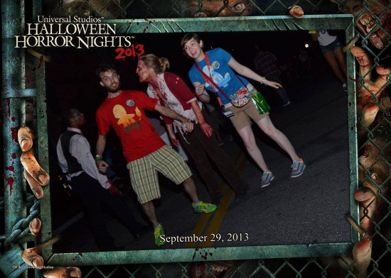 Stephanie & Brandon - souvenir HHN 2013 photo.