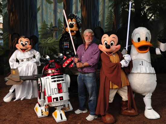 George Lucas, Mickey & pals.