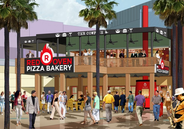 Red Oven Pizza Bakery at Universal CityWalk.