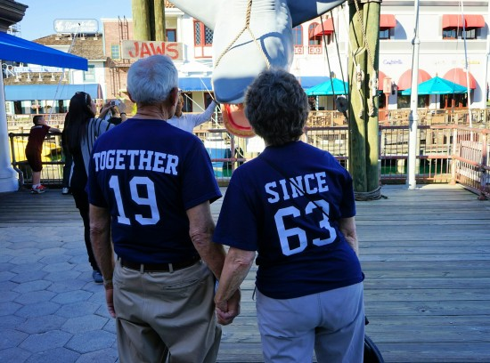 Celebrating their 50th anniversary at Universal Orlando.