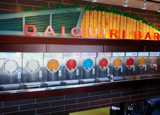 Fat Tuesday's Daiquiri selection.