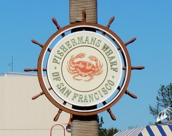 Fisherman's Wharf sign in USF's San Francisco backlot.