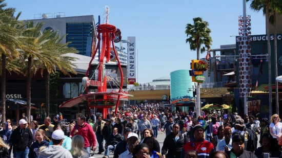Crowds at Universal Orlando.