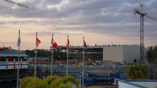 Gringotts Bank ride building - December 31, 2012.