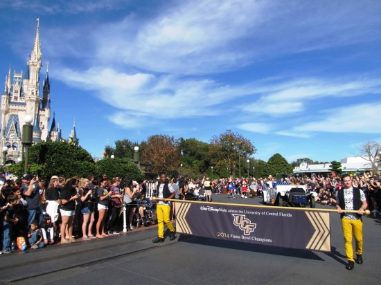 UCF Parade at Magic Kingdom - January 12, 2013.