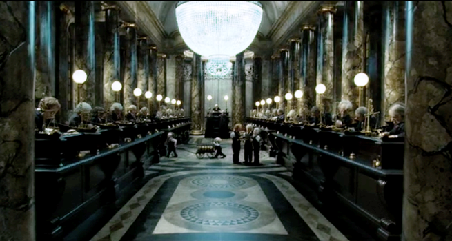 A few steps into Gringotts Bank you see this.