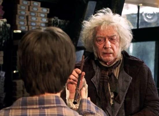 Garrick Ollivander as he appears in the Harry Potter films.