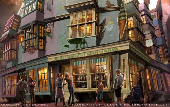 Florean Fortescue's Ice Cream Parlour - Diagon Alley at Universal Orlando.