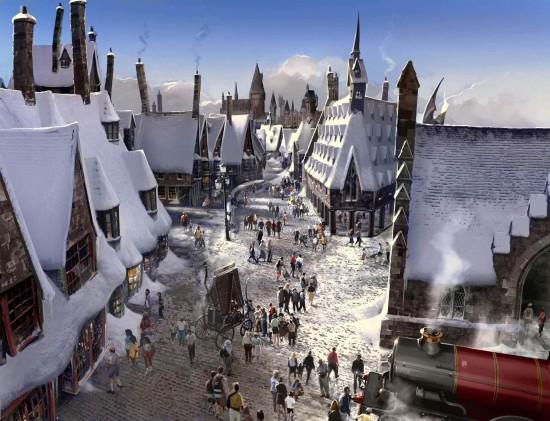 Hogsmeade Village concept art.
