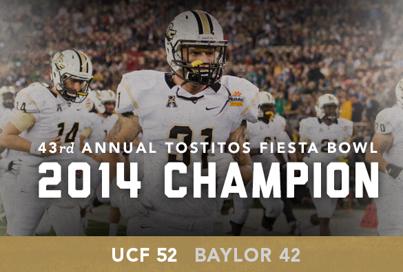 UCF wins the 43rd Annual Tostitos Fiesta Bowl.