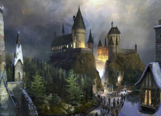 Hogwarts Castle concept art.