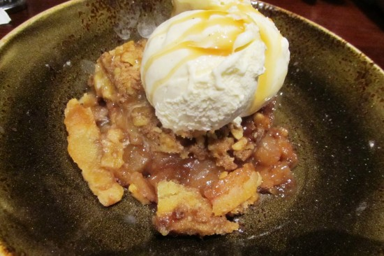 The Fresh Apple Cobbler at Hard Rock Cafe Orlando.