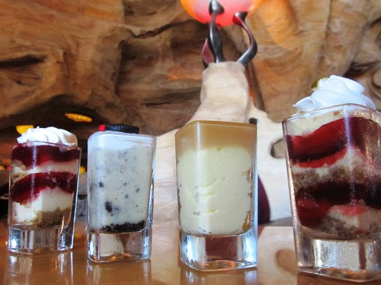 Universal Orlando's ubiquitous mini dessert shots, as seen at Mythos.