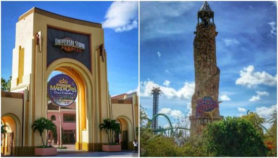 The theme parks at Universal Orlando Resort.