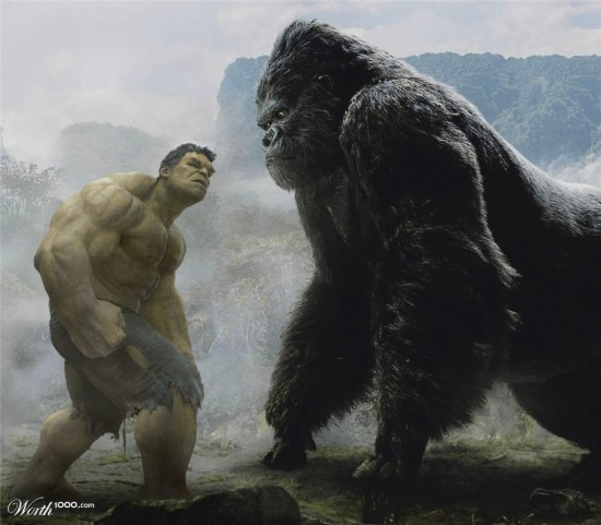 Hulk verses Kong - this might happen at Islands of Adventure.