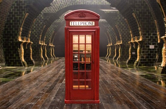 The Ministry of Magic's phone booth.