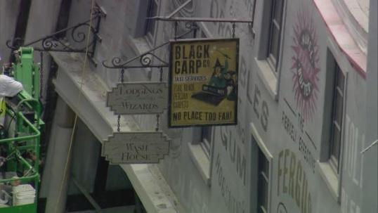 Diagon Alley's shops.