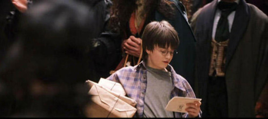 Harry Potter shopping in Diagon Alley.