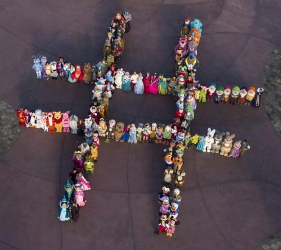 140 Disney characters.