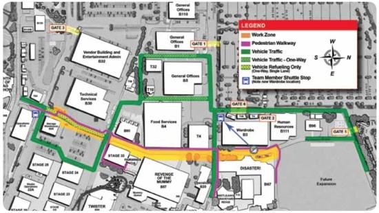 Backstage work map for the Hogwarts Express