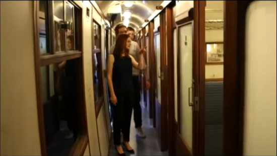 The Hogwarts Express corridor, home of many details and adventures.