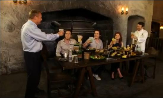 A toast to the Leaky Cauldron.