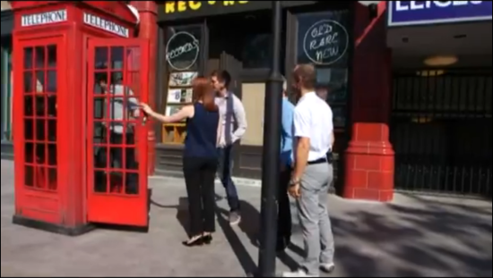 An authentic London phone box... and the front door to the Ministry of Magic.