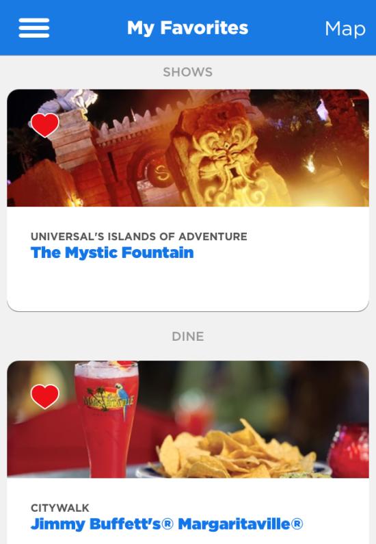 Universal Orlando app guide