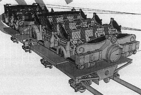 Original concept of the Gringotts ride vehicle.