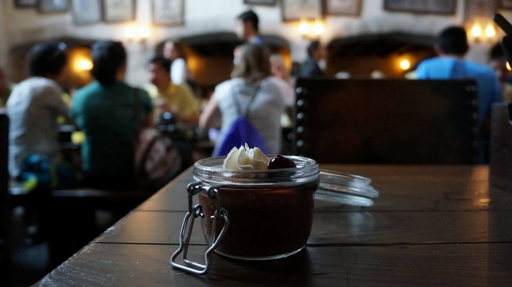 Chocolate Potted Cream at the Leaky Cauldron