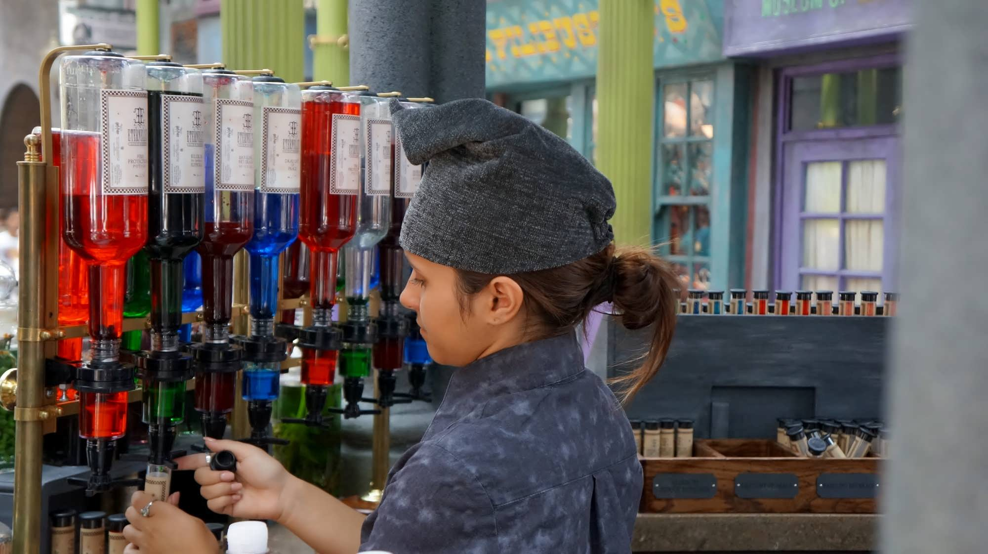 Elixir mixology at Eternelle's Elixir of Refreshment
